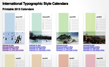 International Typographic Style Calendars Printable