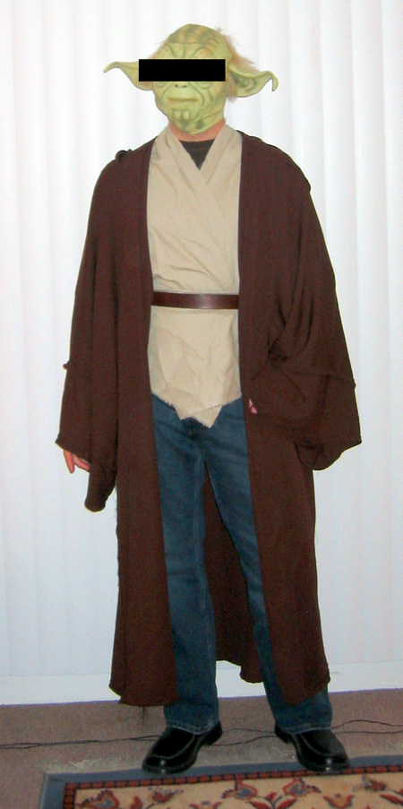 ... tunic front | back ... & How to Make a Jedi Robe