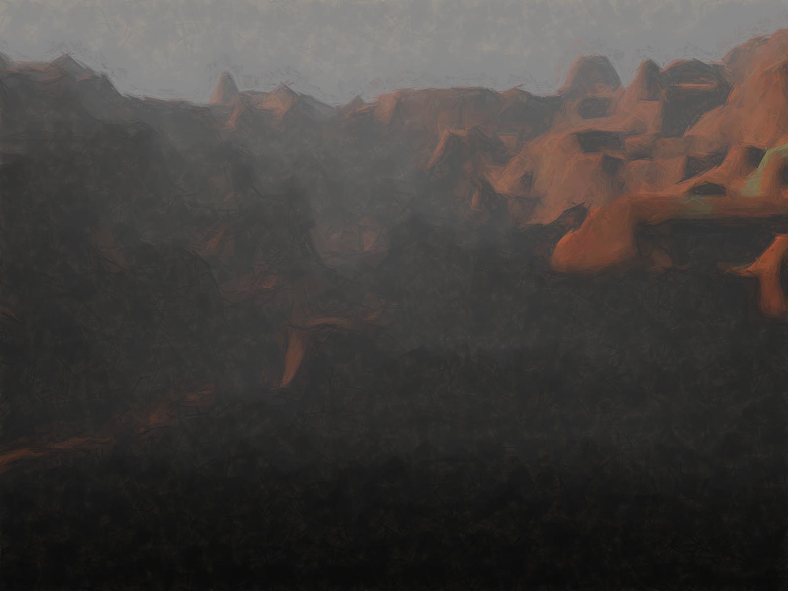 computer generated landscape