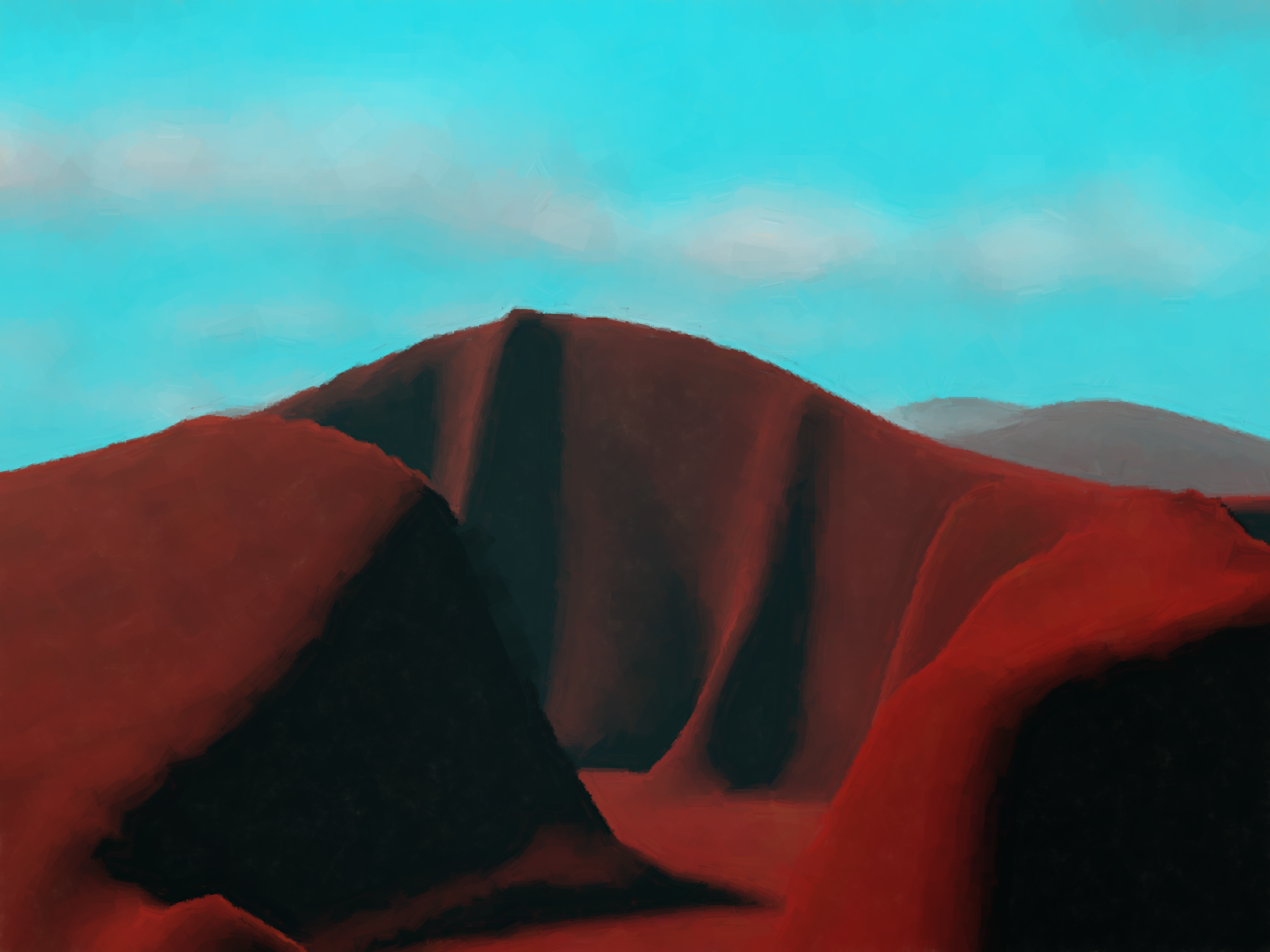 computer generated landscape